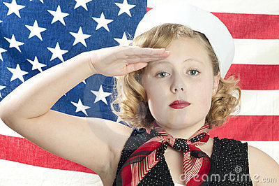 Patriotic Little Girl