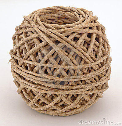 Brown cord ball