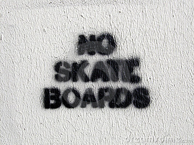 No Skate Boards