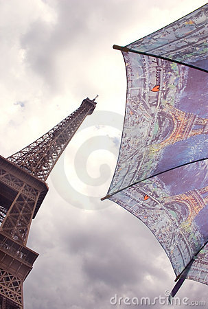 Eiffel Tower and umbrella, Paris