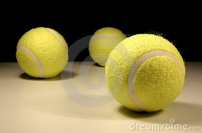 Three tennis-balls