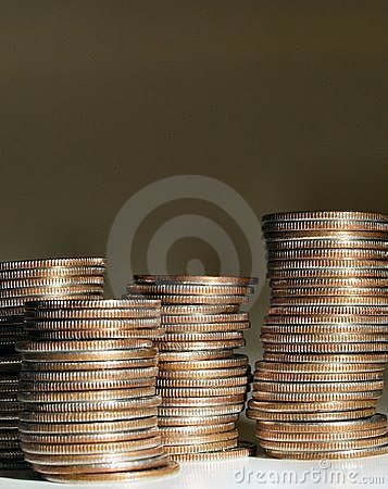 Stack of coins 2