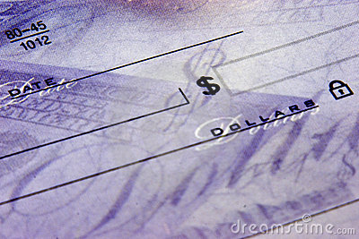 Blank Check - Bills to pay
