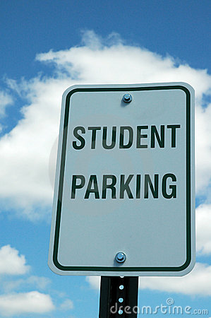 Student Parking Sign