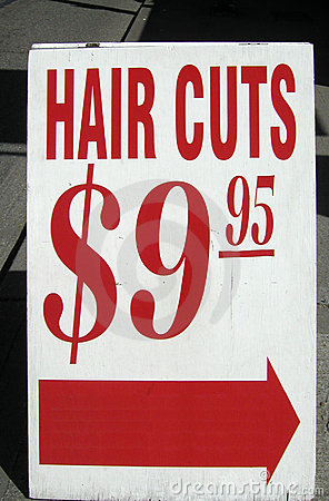 Hair Cuts Sign