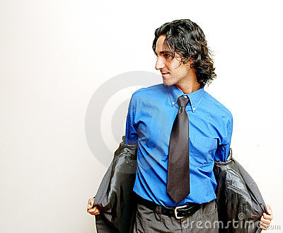 Businessman stripping