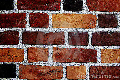 Color bricks wall