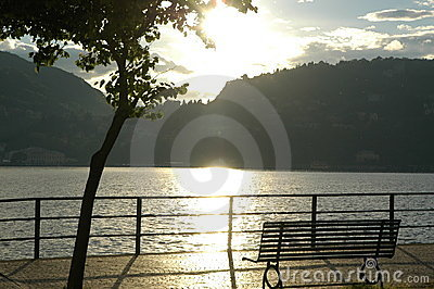 Romantic view in Como lake.