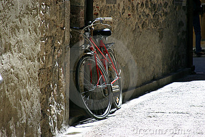 Bicycle ready and waiting