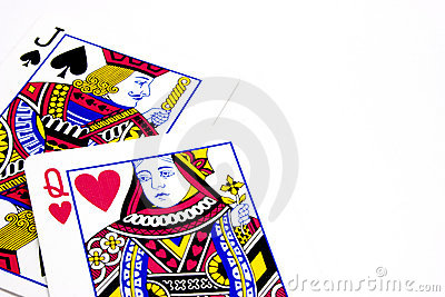Poker Playing Cards - Jack Queen Lovers