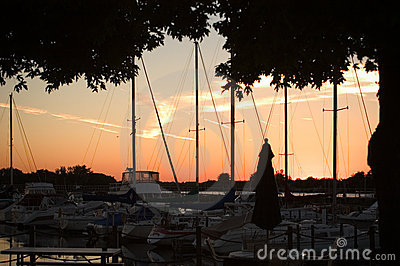 Sunset at the Yacht Club