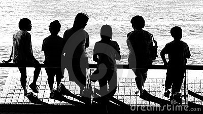 peoples silhouettes