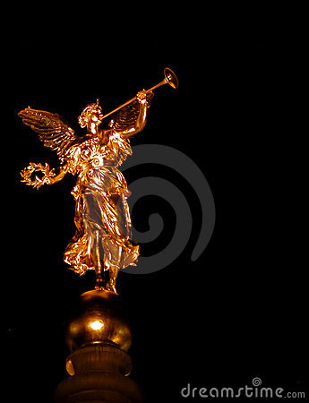 Golden angel in Dresden