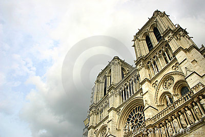 Notre Dame de Paris after the storm