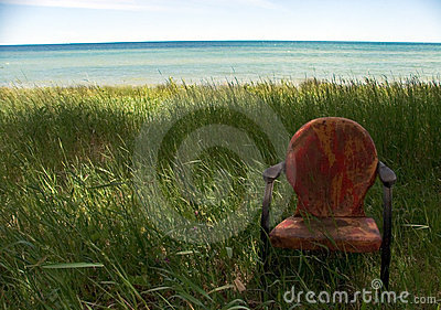 Weathered Beach Chair