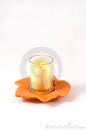 Fall Leaf with Candle