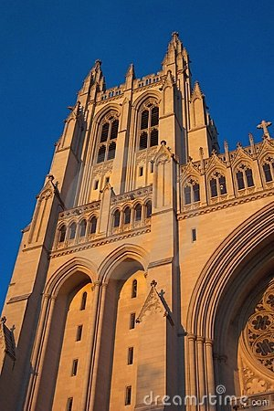 Sunlit Cathedral Tower