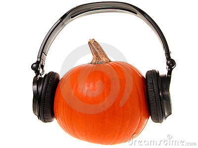 Pumpkin Head with Headphones (1 of 2)