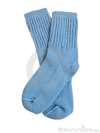 Fashion: Light Blue Toddler Socks