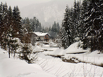 Winter scene in Austria