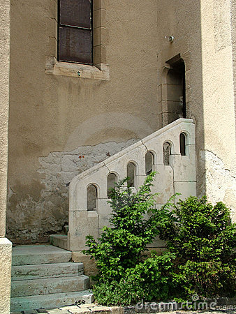 Stairs on an old house