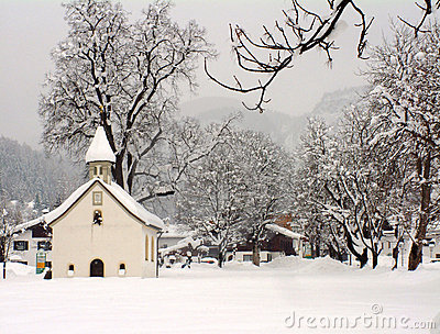Austrian chapel in winter