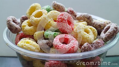 Colored Fruit Loops