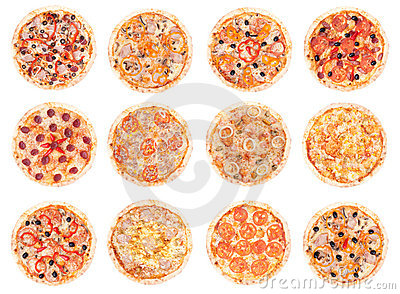 stock image of pizza food