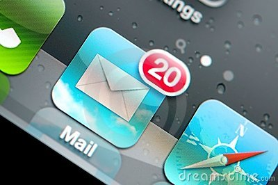 Macro of email icon