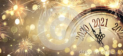 Countdown To Midnight - Happy New Year 2021 - Abstract Defocused Background