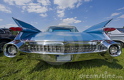 Vintage cadillac backview