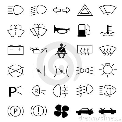 Car Warning Symbols Image20549960