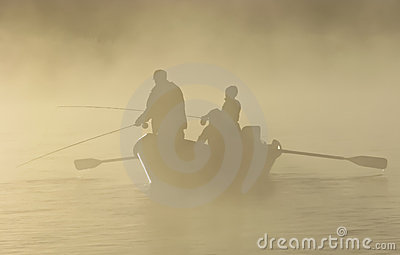 Fly Fishing in a Drift boat in the Fog