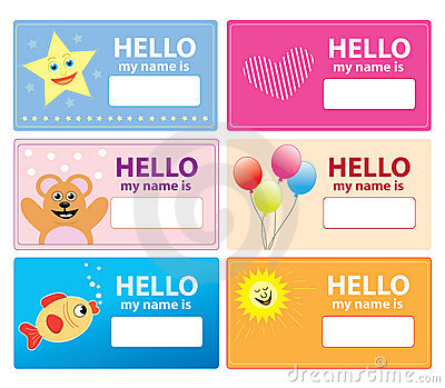 children name cards