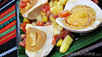 Red Salted Egg Salad Asian Delicacy