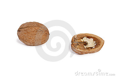 Walnut isolated