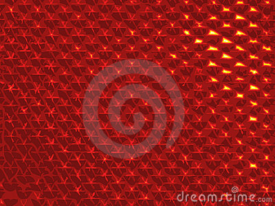 Abstract Bike Red Light Brilliant Reflector Background Vector Illustration