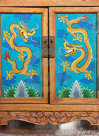 Chinese handcrafted wood cabinet doors