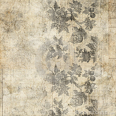 Grungy Antique Vintage Floral Background