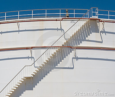 Stair at oil tank