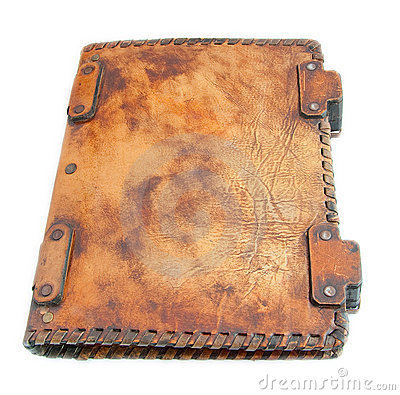 The ancient book in leather cover