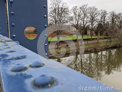 A view of the river Severn from kingsland bridge in Shrewsbury