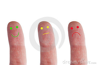 stock image of emotions