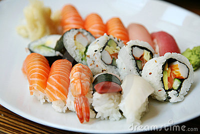 Plate of sushi