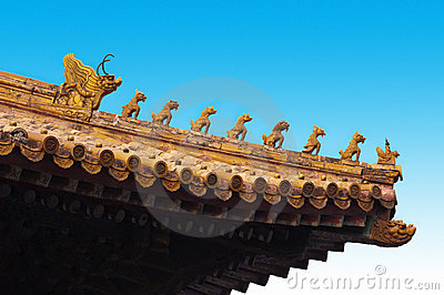 Forbidden City Roof Carving, Beijing China Travel