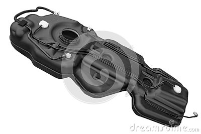 car fuel tank on white background
