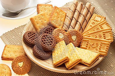 Plater full of biscuits