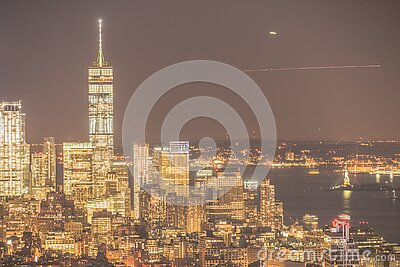World Trade Center and night view