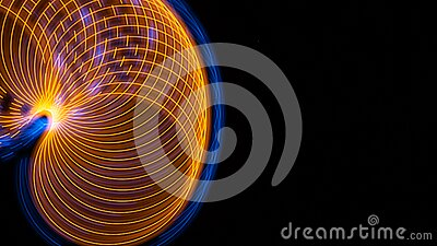 Abstract: Intriguing Swirls of Color Creating a Border on a Black Background