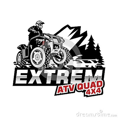 Extrem atv squad illustration vector